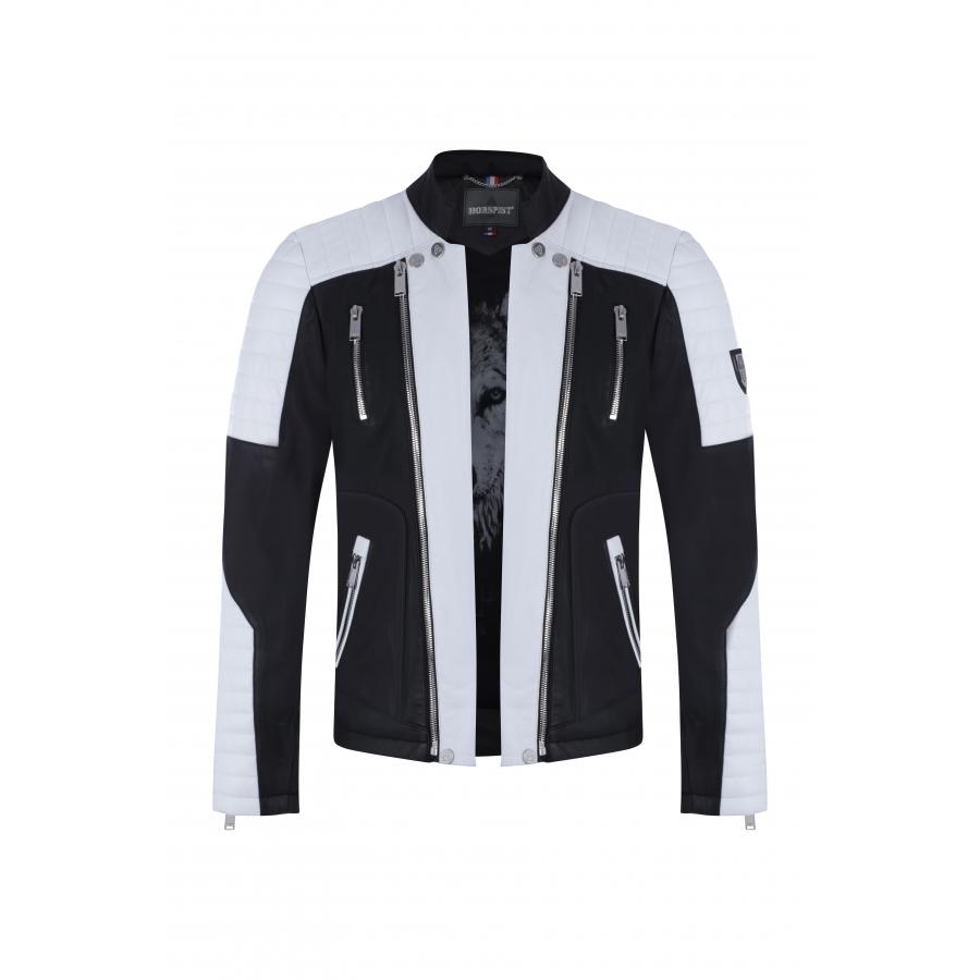 Jacket Manoir Leather White