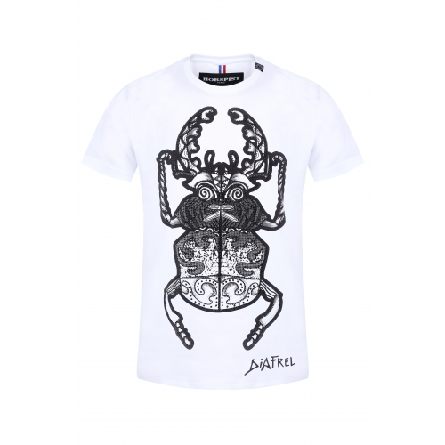 T-shirt Beetle Blanc