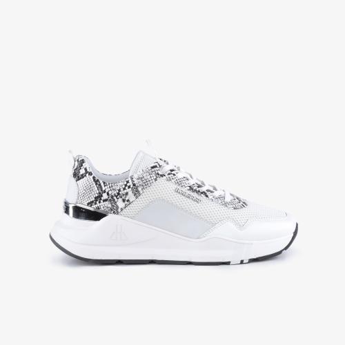 Sneakers Concorde Python Blanc