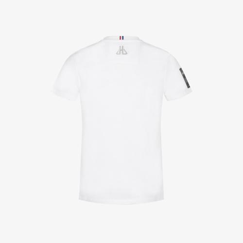 T-shirt Cognac White